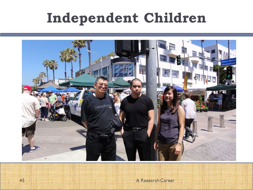 Independent Children 45A Research Career