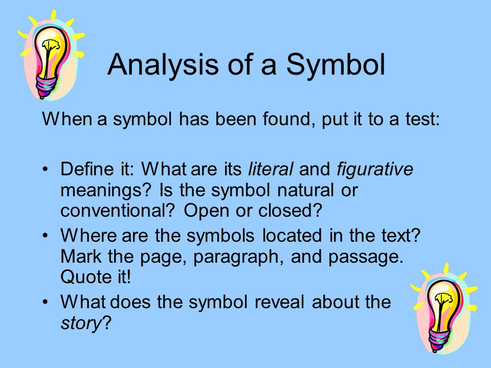 Symbolism What To Look For In Stories Shannon Phillips Ppt Download