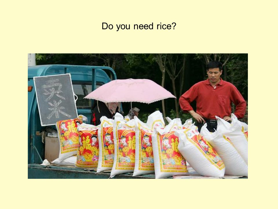 Do you need rice