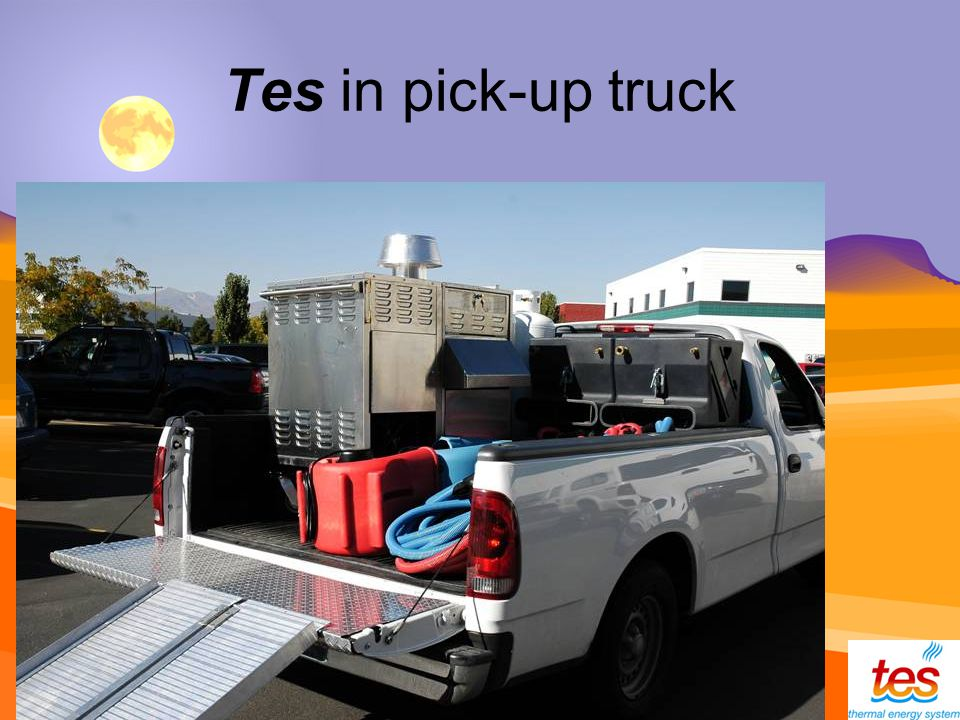 Tes in pick-up truck