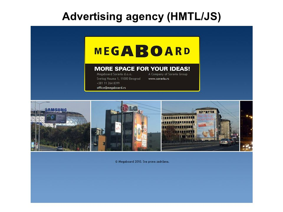 Advertising agency (HMTL/JS)