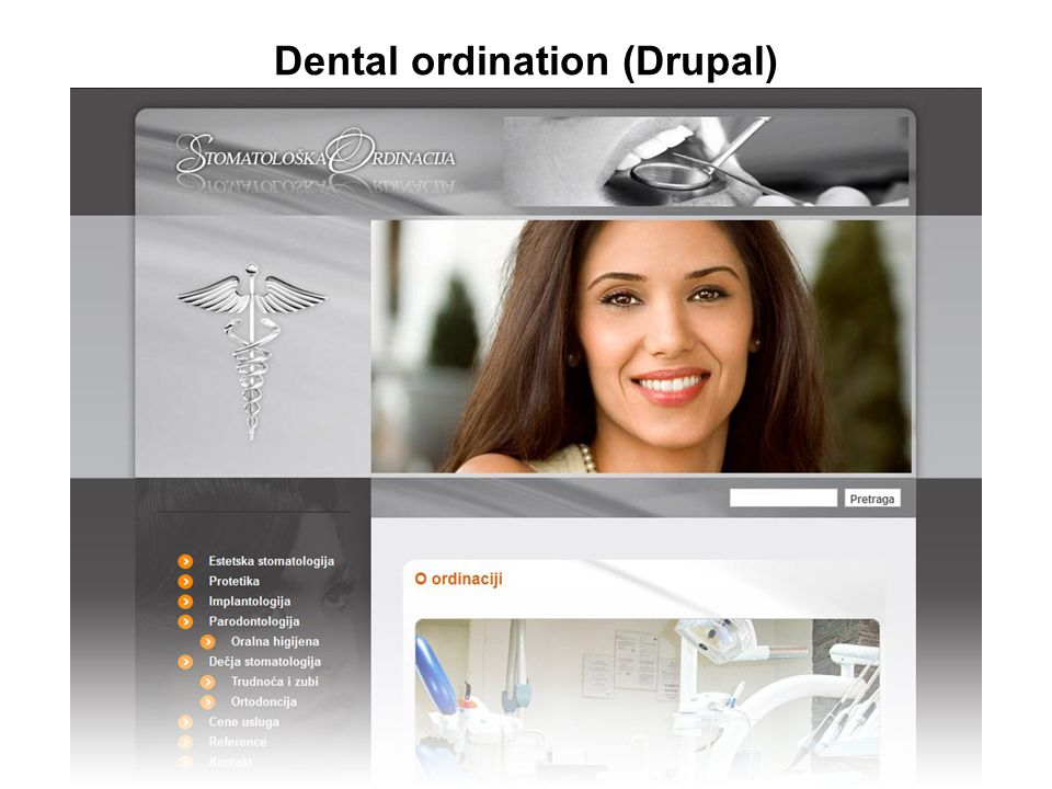Dental ordination (Drupal)
