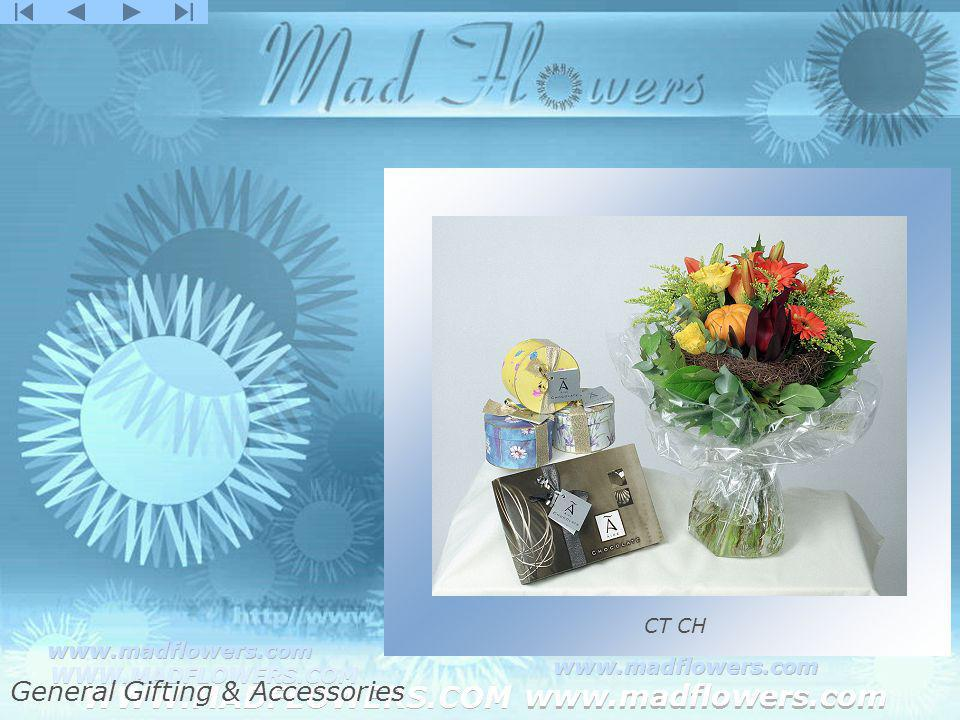 Click to edit Master title style Click to edit Master text styles –Second level Third level –Fourth level »Fifth level WWW.MADFLOWERS.COM www.madflowers.com WWW.MADFLOWERS.COM www.madflowers.com WWW.MADFLOWERS.COM www.madflowers.com WWW.MADFLOWERS.COM www.madflowers.com WWW.MADFLOWERS.COM www.madflowers.com CT CH General Gifting & Accessories