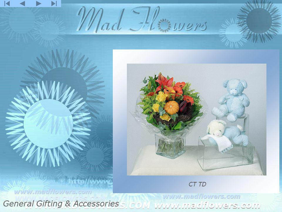 Click to edit Master title style Click to edit Master text styles –Second level Third level –Fourth level »Fifth level WWW.MADFLOWERS.COM www.madflowers.com WWW.MADFLOWERS.COM www.madflowers.com WWW.MADFLOWERS.COM www.madflowers.com WWW.MADFLOWERS.COM www.madflowers.com WWW.MADFLOWERS.COM www.madflowers.com CT TD General Gifting & Accessories