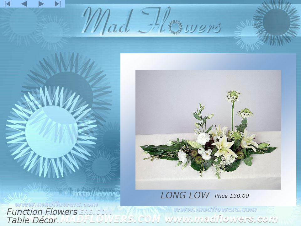 Click to edit Master title style Click to edit Master text styles –Second level Third level –Fourth level »Fifth level WWW.MADFLOWERS.COM www.madflowers.com WWW.MADFLOWERS.COM www.madflowers.com WWW.MADFLOWERS.COM www.madflowers.com WWW.MADFLOWERS.COM www.madflowers.com WWW.MADFLOWERS.COM www.madflowers.com LONG LOW Price £30.00 Function Flowers Table Décor