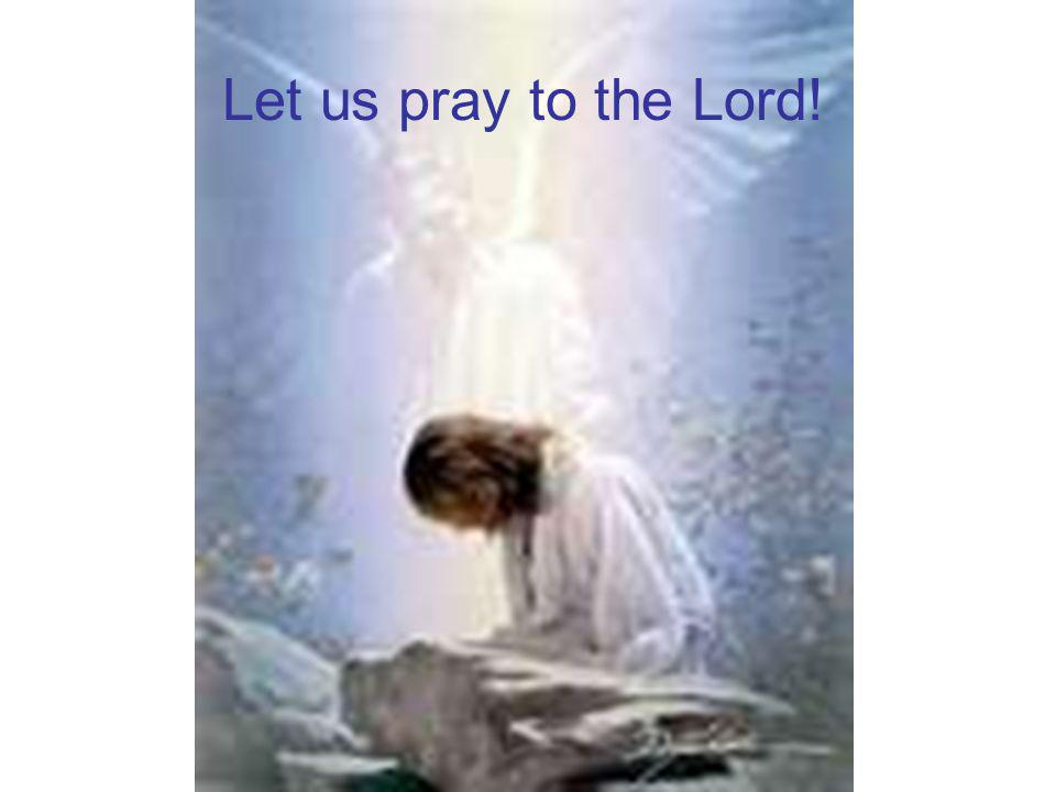 Let us pray to the Lord!