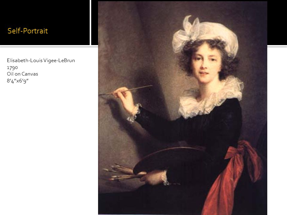 Self-Portrait Elisabeth-Louis Vigee-LeBrun 1790 Oil on Canvas 84x69