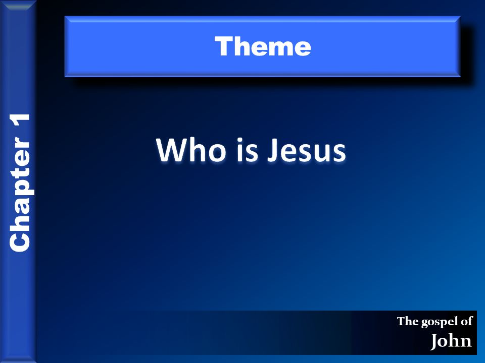 The gospel of John Theme Chapter 1