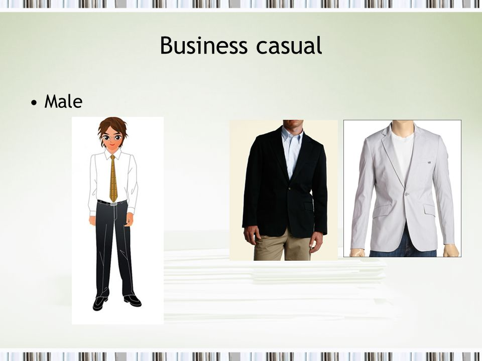 Male Business casual