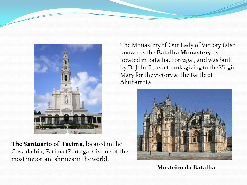 The Santuário of Fatima, located in the Cova da Iria, Fatima (Portugal), is one of the most important shrines in the world.