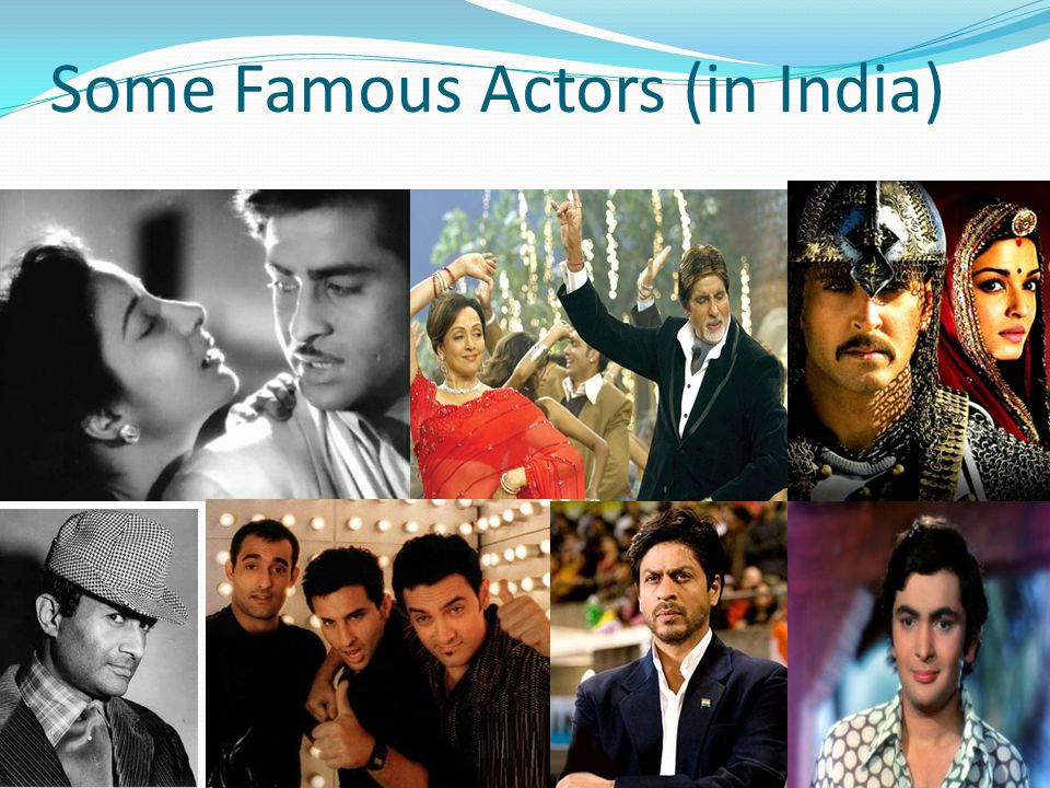 Some Famous Actors (in India)