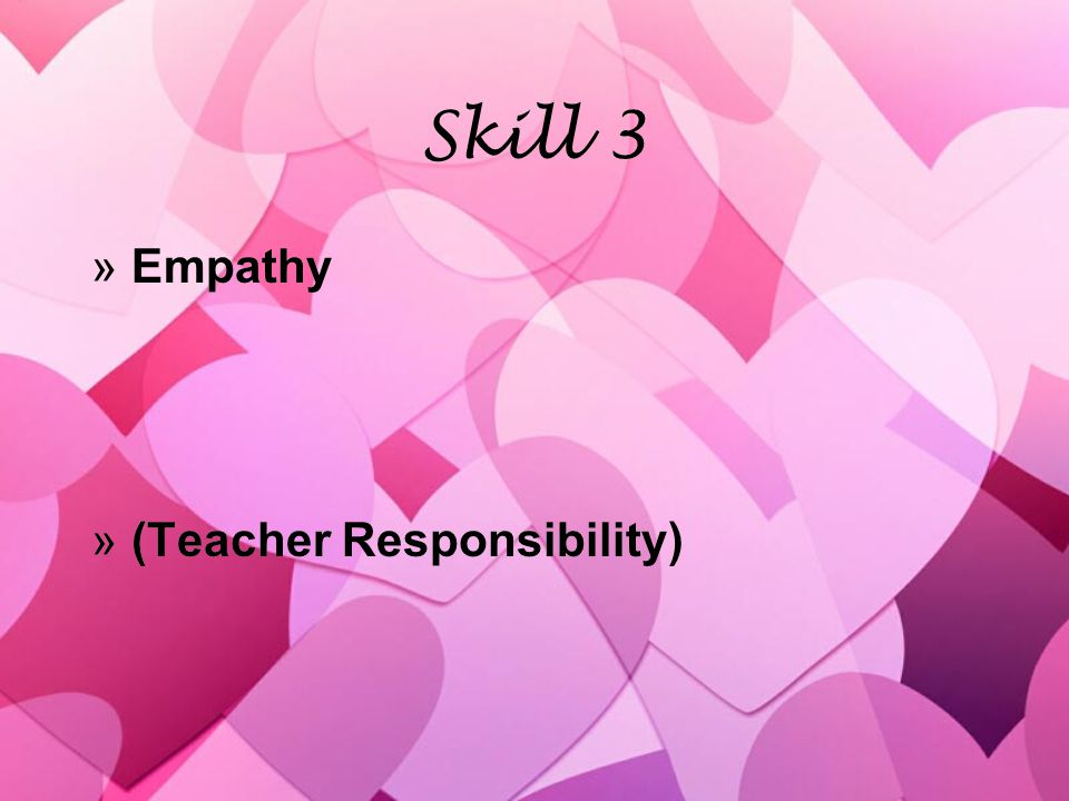 Skill 3 »Empathy »(Teacher Responsibility) »Empathy »(Teacher Responsibility)