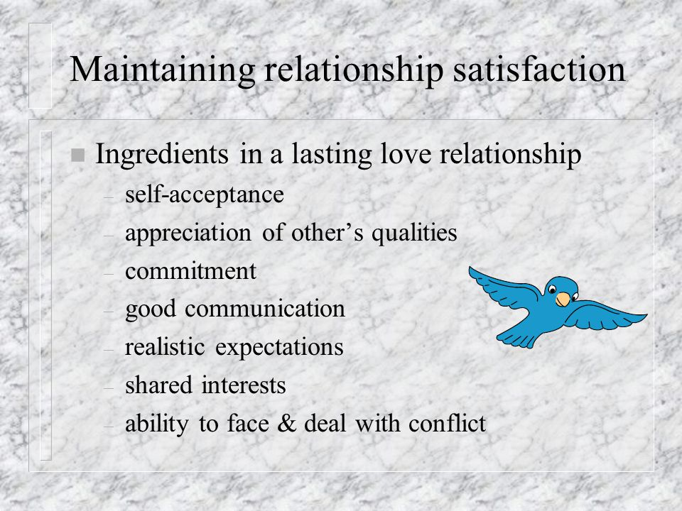 Issues in loving relationships n Jealousy in relationships – definition= an aversive feeling in response to real or imagined relationship between ones partner & another – jealousy prone person n low self-esteem, high value on wealth, fame, popularity, attractiveness – negative consequences n precipitates violence, stifles developing relationship & pleasure, anxiety, depression, anger – numerous gender differences- triggers, coping, experiences