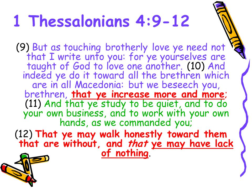 L O V E Is A Strong Word 1 Thessalonians 49 12 9 But As Touching