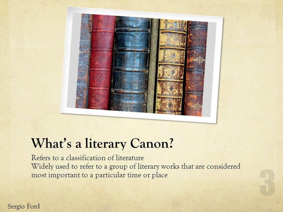 Whats a literary Canon.