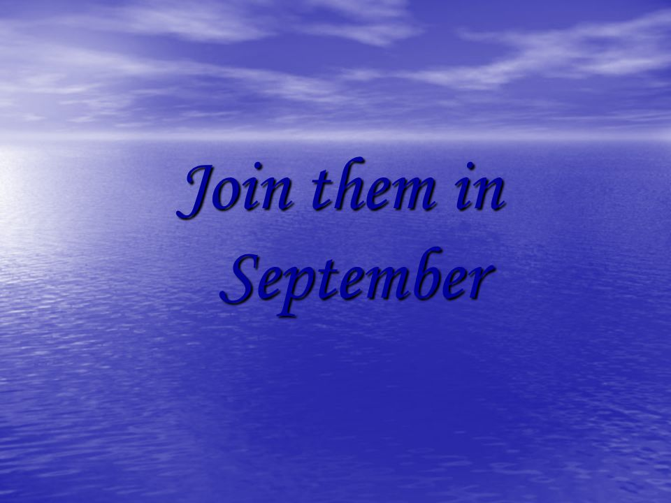 Join them in September