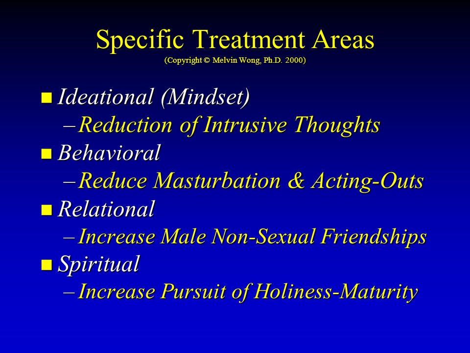Specific Treatment Areas (Copyright © Melvin Wong, Ph.D.
