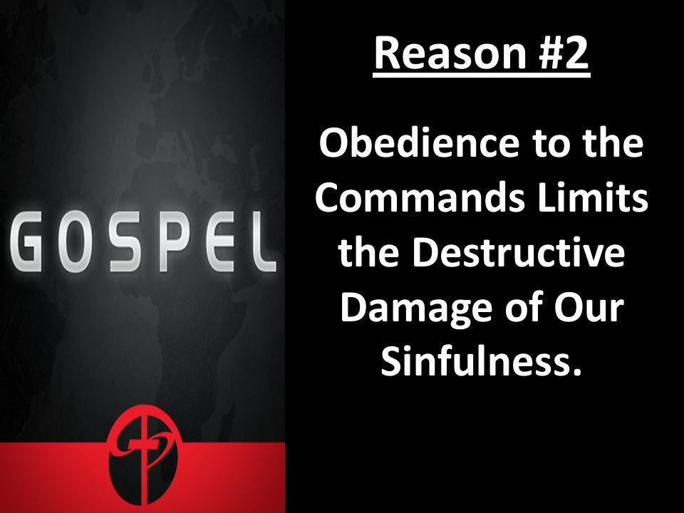 Reason #2 Obedience to the Commands Limits the Destructive Damage of Our Sinfulness.