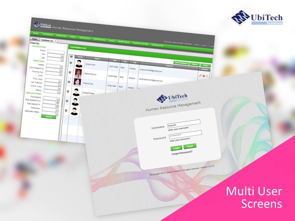 Multi User Screens