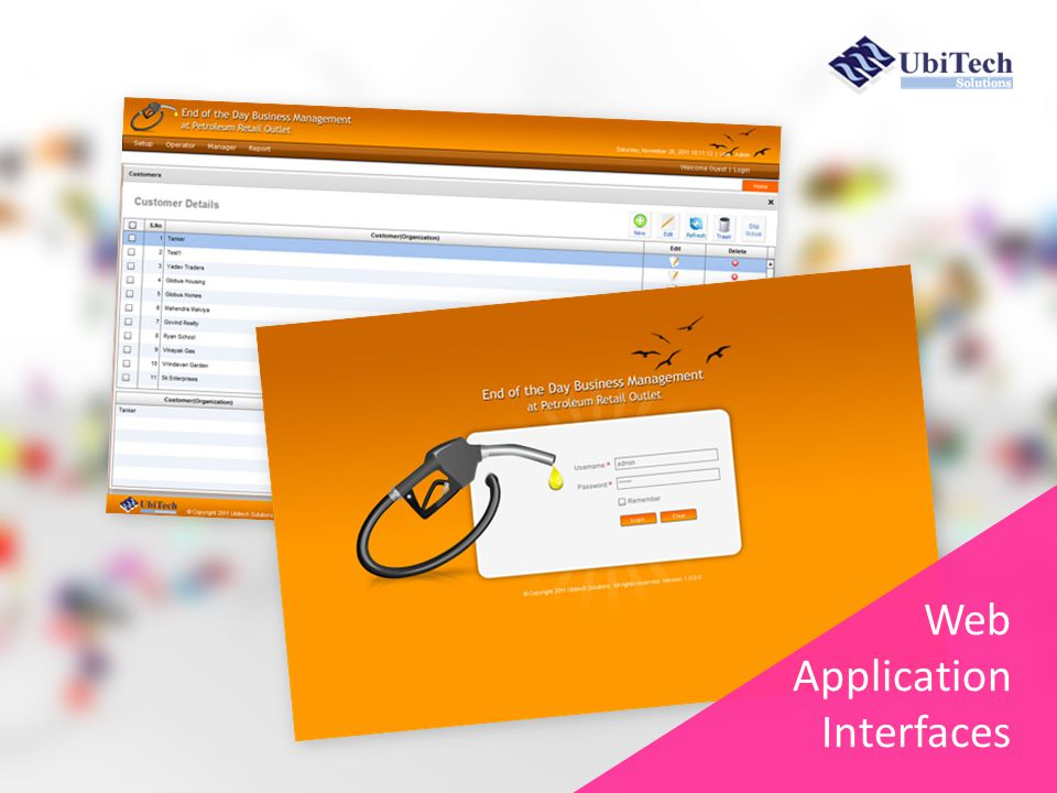 Web Application Interfaces