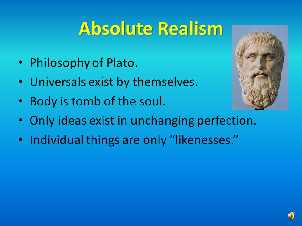 A Question of Universals The central dividing line in philosophy.