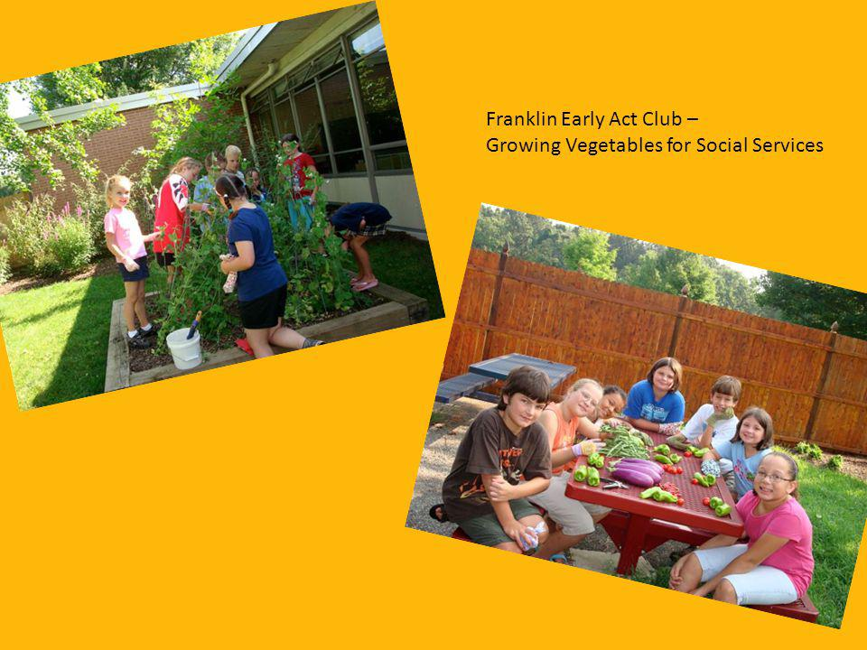 Franklin Early Act Club – Growing Vegetables for Social Services