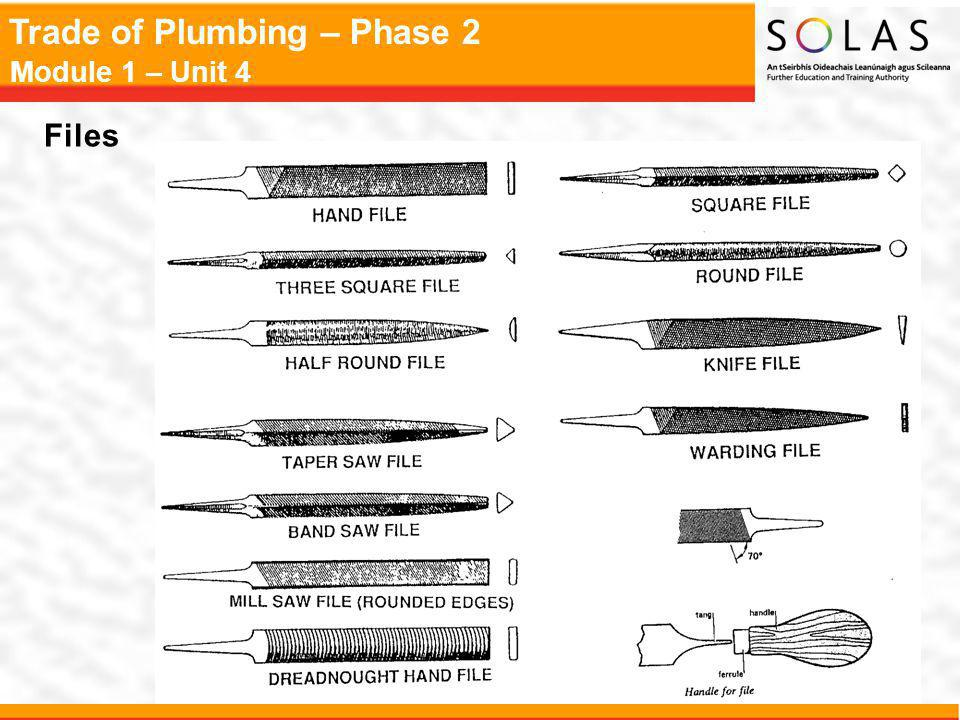 Trade of Plumbing – Phase 2 Module 1 – Unit 4 Files