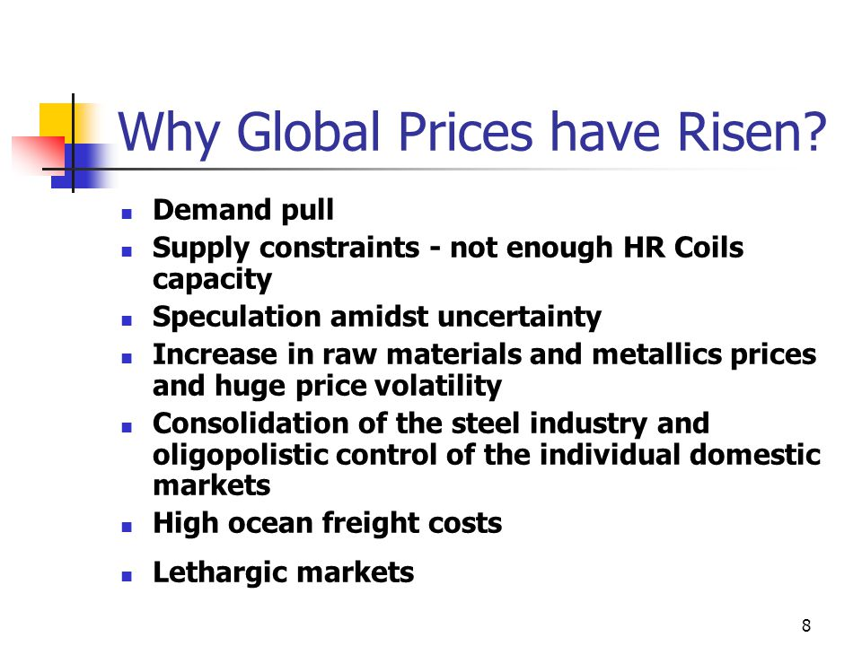 8 Why Global Prices have Risen.