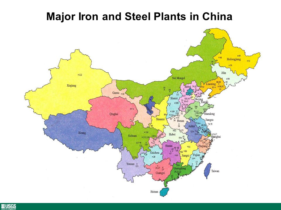 Major Iron and Steel Plants in China