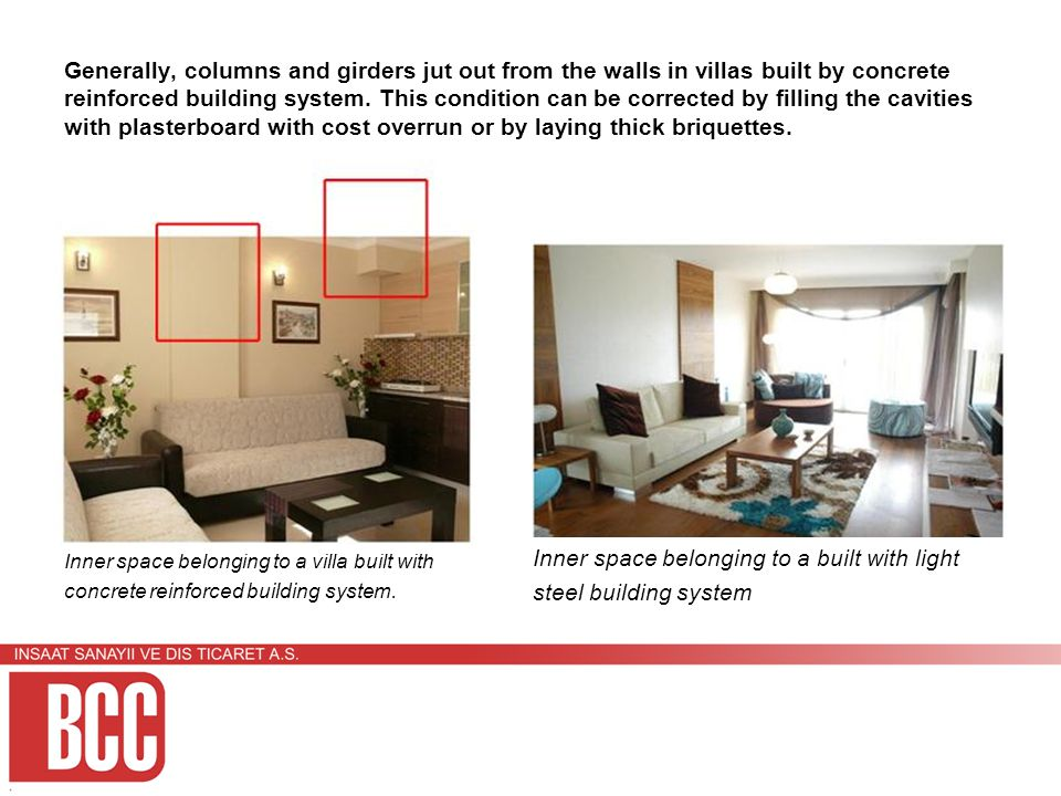 Comparison of Concrete Reinforced Building System and Light Steel
