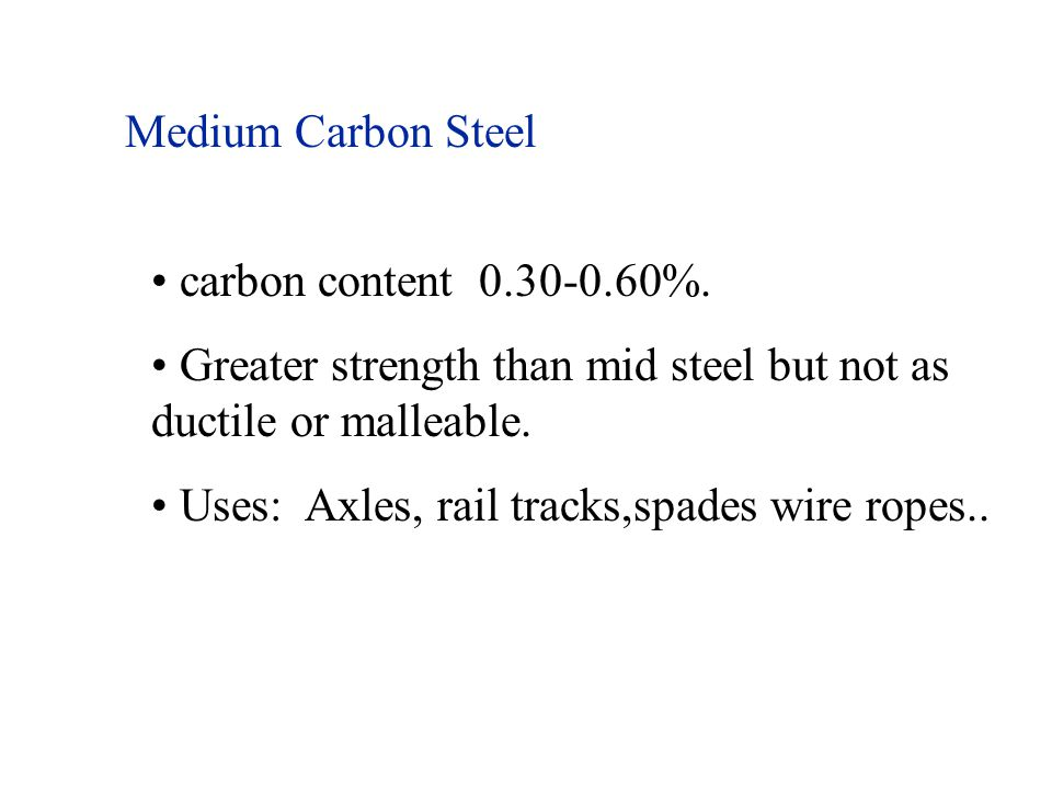 Medium Carbon Steel carbon content 0.30-0.60%.