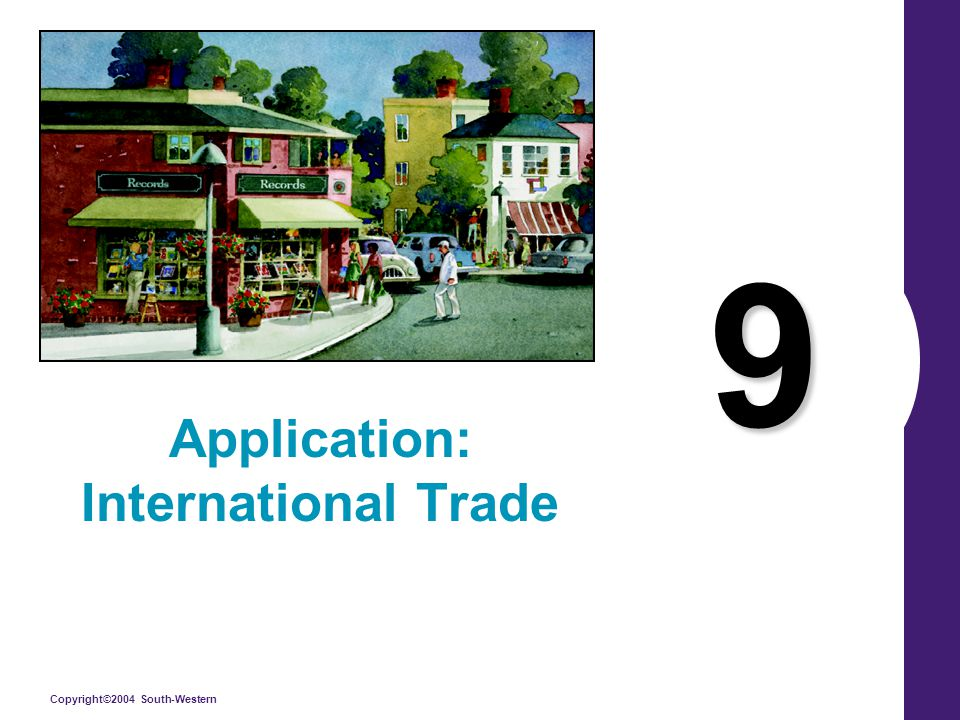 Copyright©2004 South-Western 9 Application: International Trade