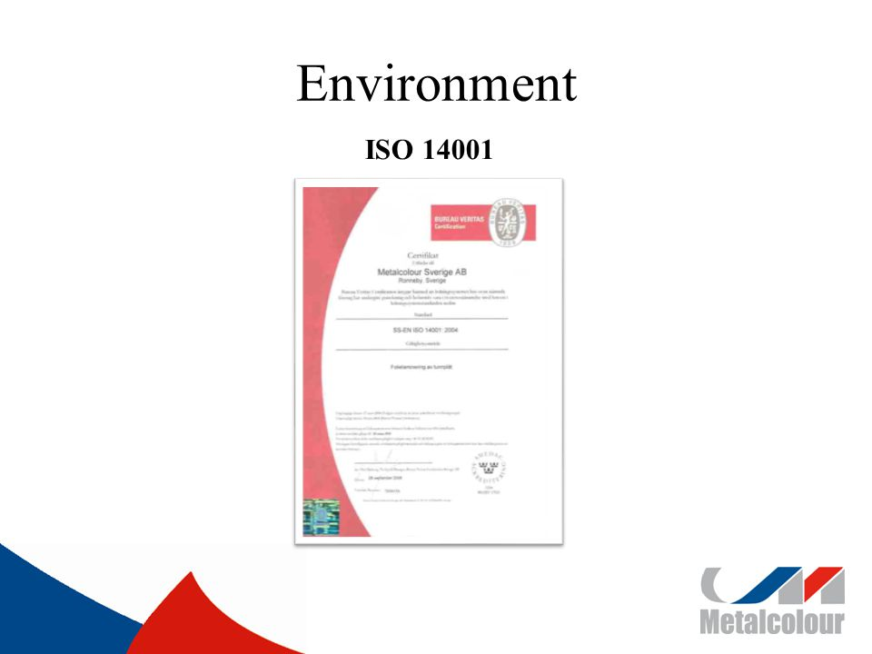 Environment ISO 14001
