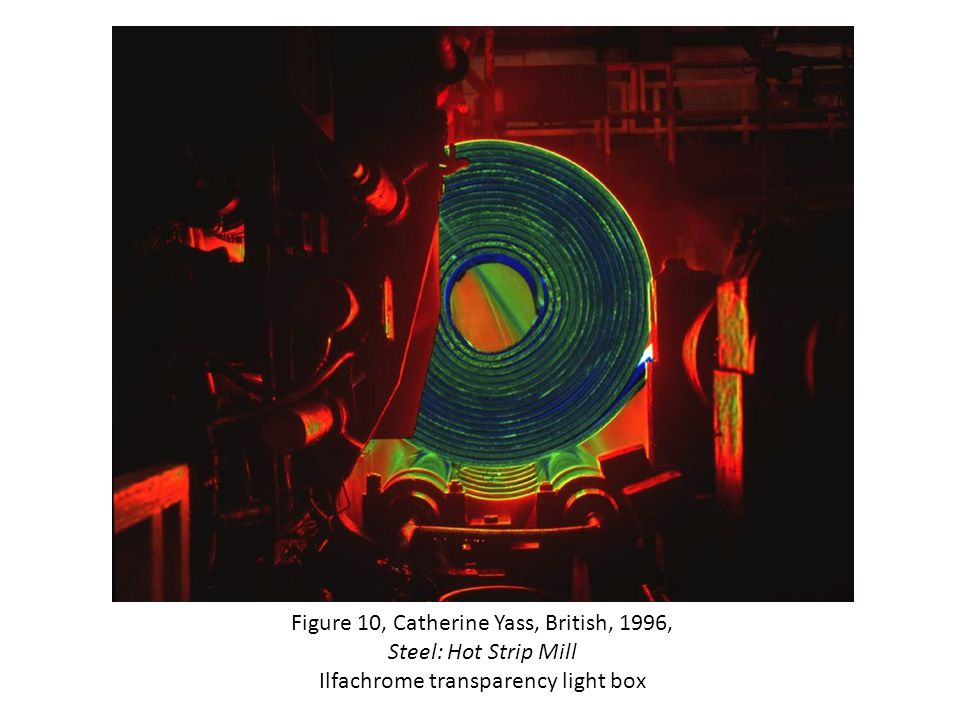 Figure 10, Catherine Yass, British, 1996, Steel: Hot Strip Mill Ilfachrome transparency light box