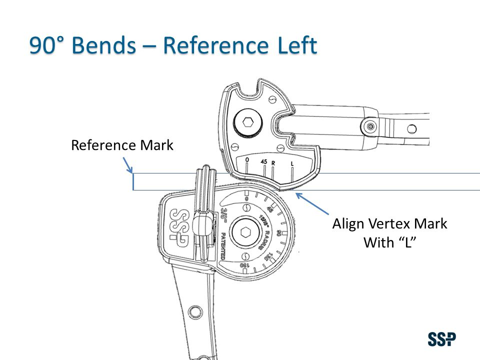 Reference Mark Align Vertex Mark With L 90° Bends – Reference Left