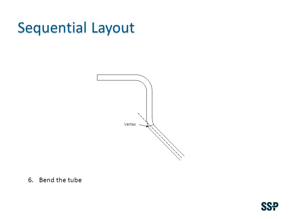 Sequential Layout Vertex 6.Bend the tube