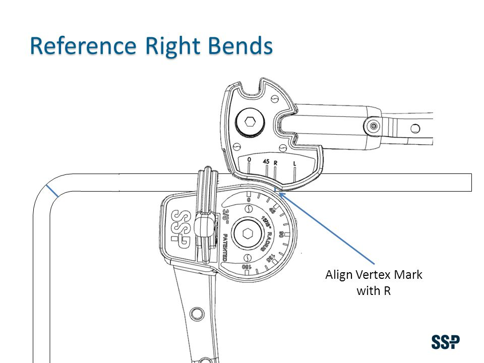 Align Vertex Mark with R Reference Right Bends