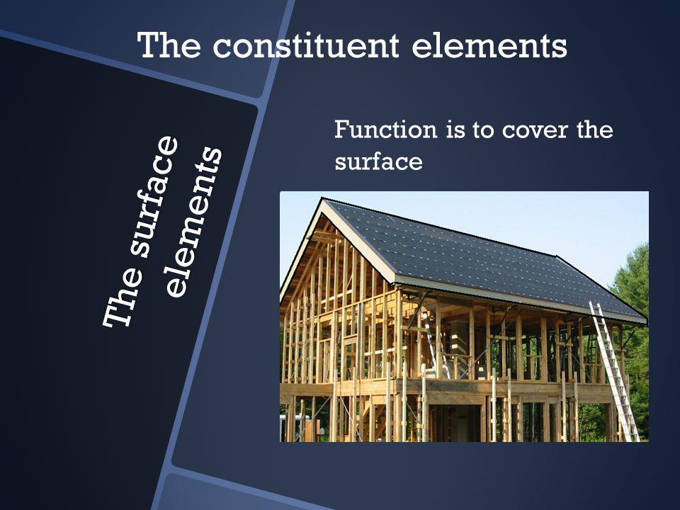 The surface elements Function is to cover the surface The constituent elements