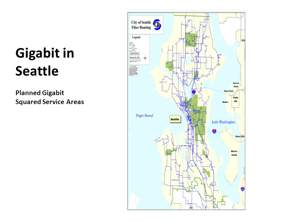Gigabit in Seattle Planned Gigabit Squared Service Areas