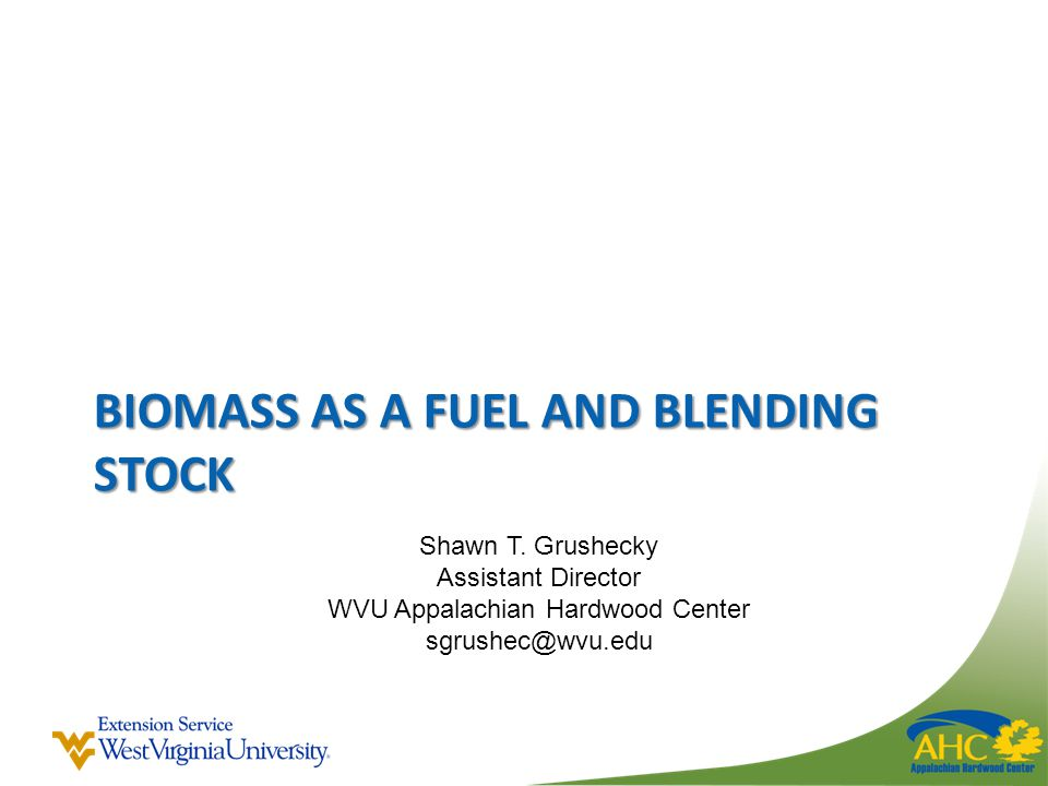 BIOMASS AS A FUEL AND BLENDING STOCK Shawn T.