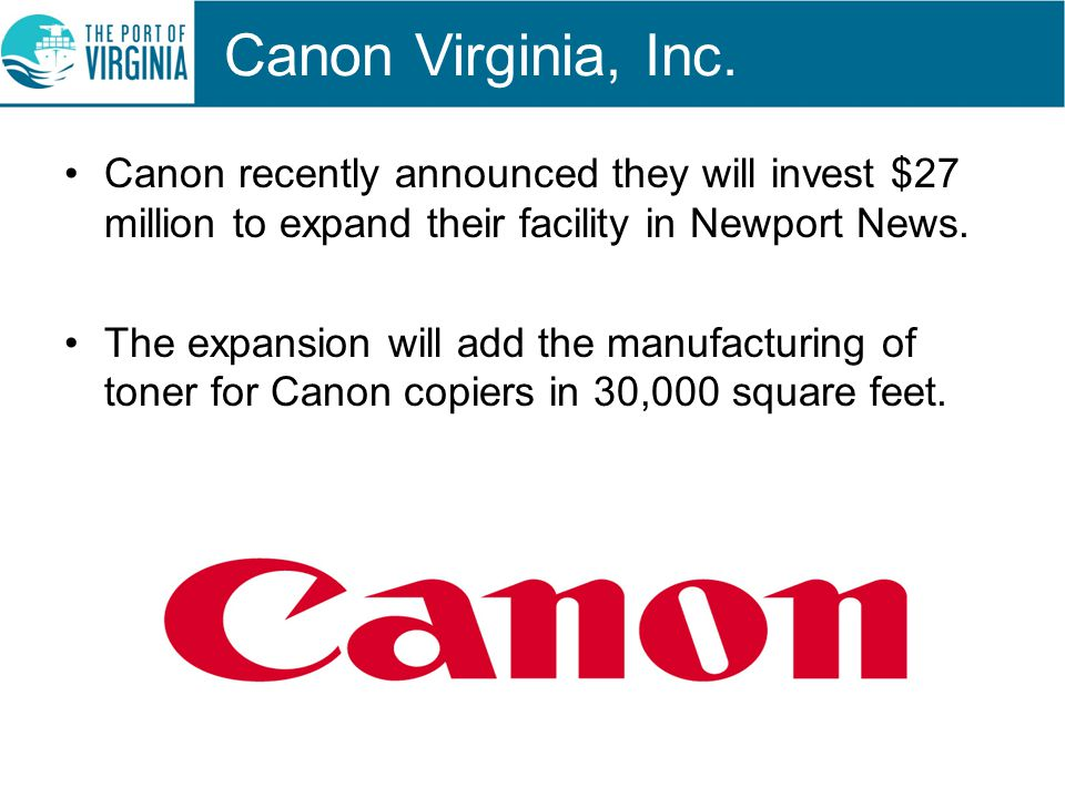 Canon Virginia, Inc.
