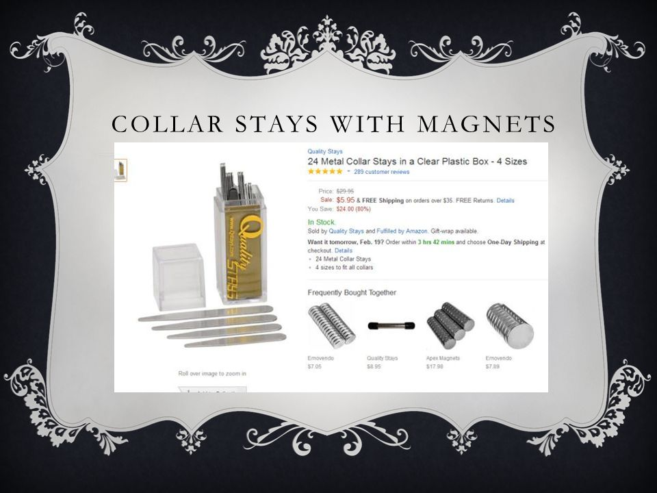 COLLAR STAYS WITH MAGNETS