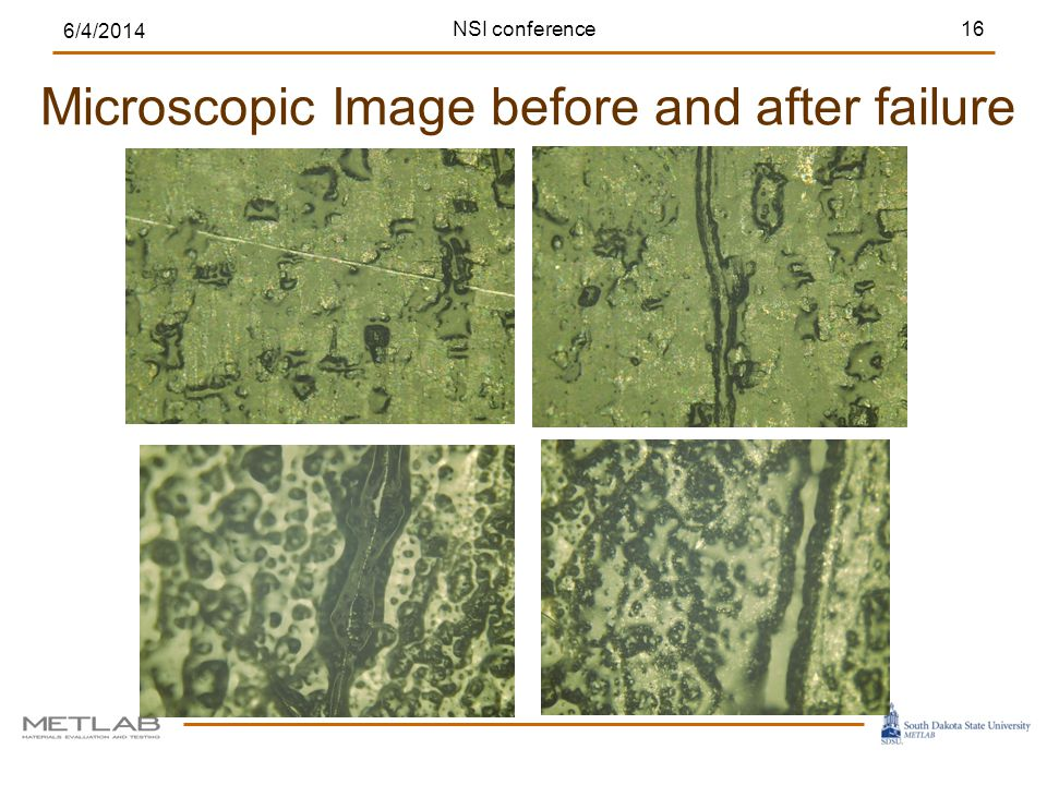 Microscopic Image before and after failure 6/4/2014 16NSI conference