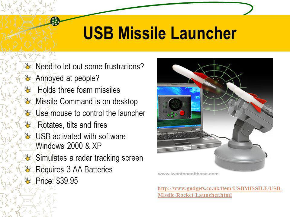 USB Missile Launcher Need to let out some frustrations.