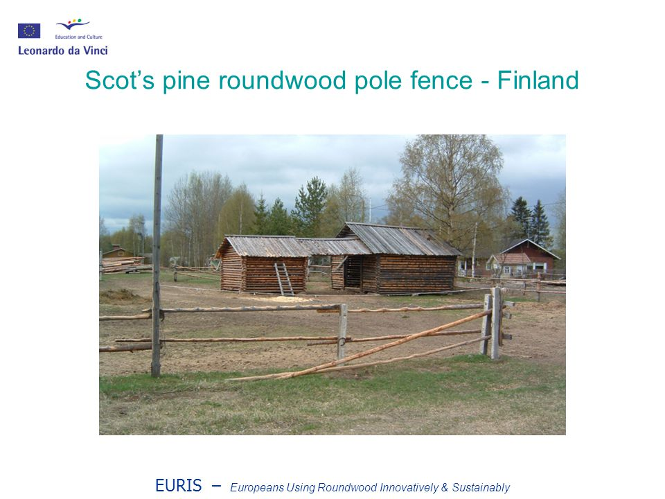 EURIS – Europeans Using Roundwood Innovatively & Sustainably Scots pine roundwood pole fence - Finland