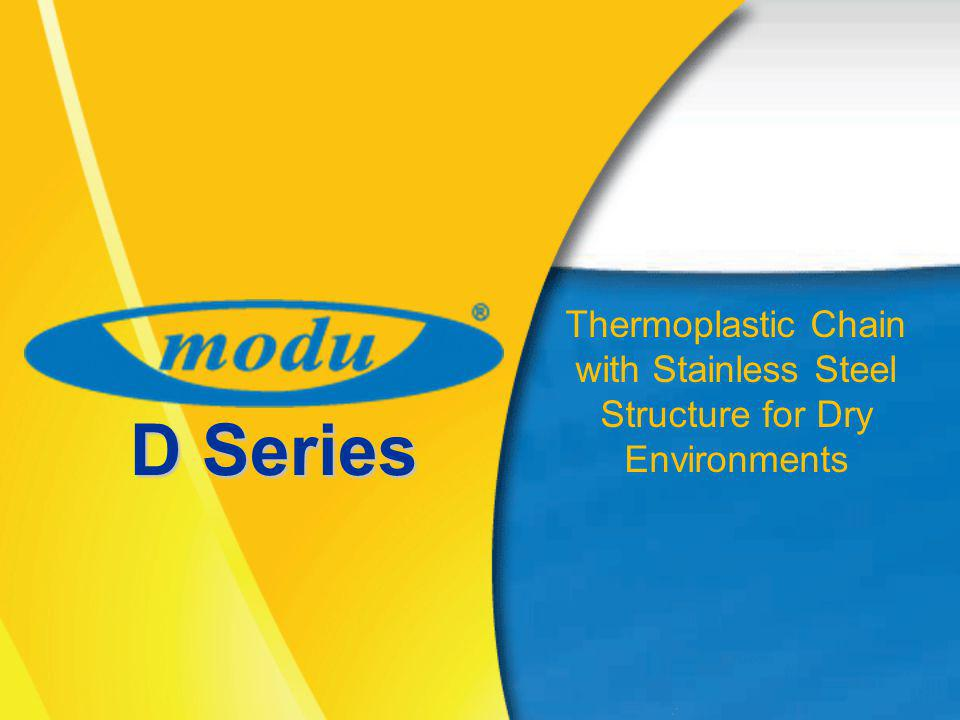 D Series Thermoplastic Chain with Stainless Steel Structure for Dry Environments