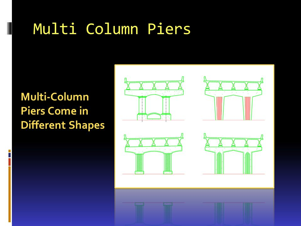 Multi Column Piers Multi-Column Piers Come in Different Shapes