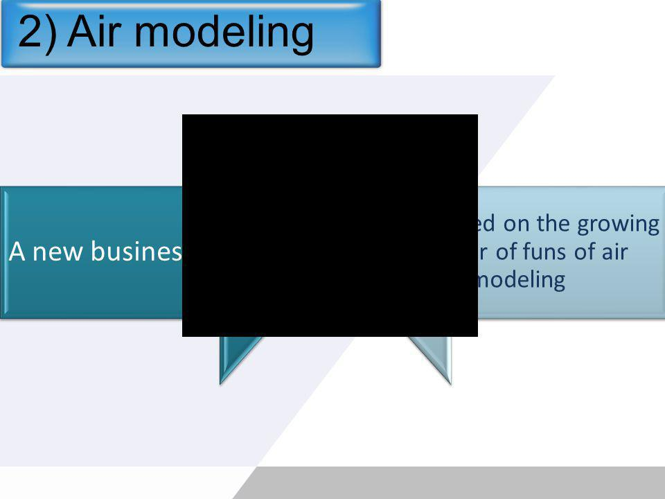 2) Air modeling A new business… …dedicated on the growing number of funs of air modeling