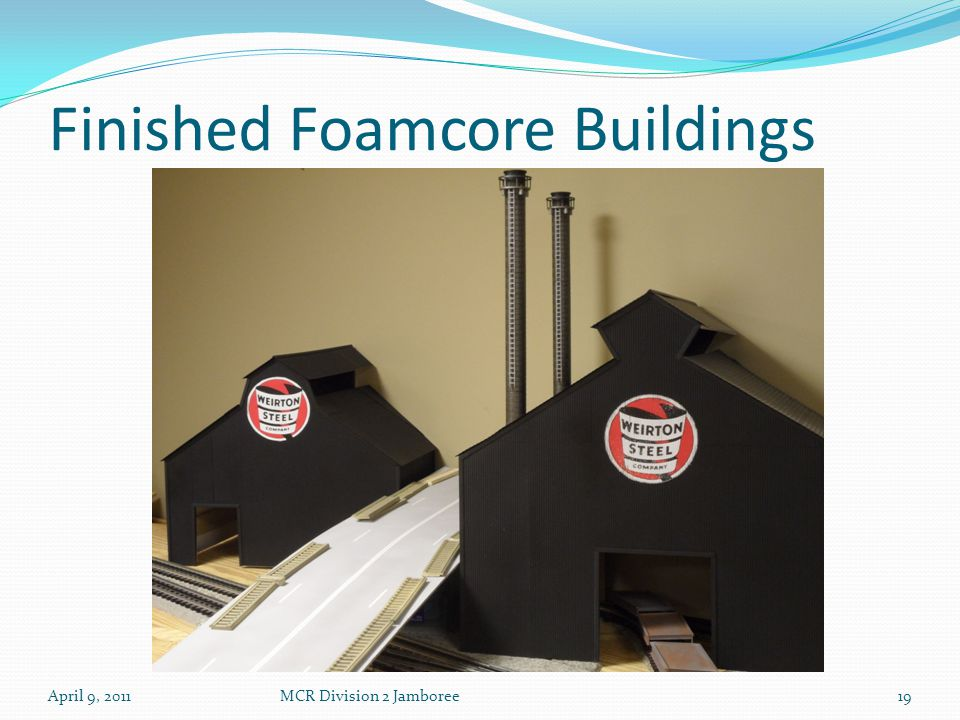Finished Foamcore Buildings April 9, 2011MCR Division 2 Jamboree19