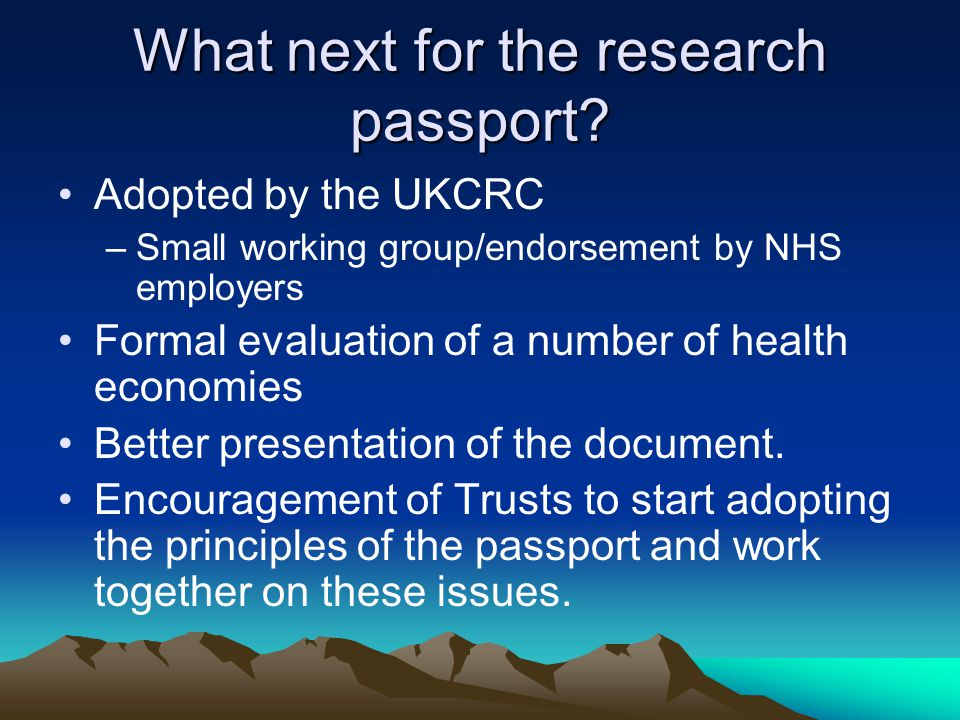 What next for the research passport.